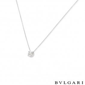 Bvlgari White Gold Diamond Corona Necklace 1.02ct H/IF